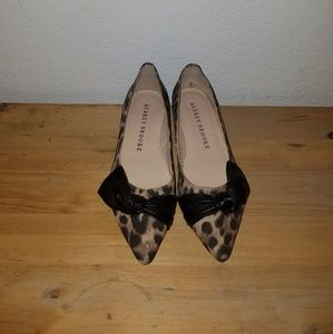 Audrey Brooke animal print flats